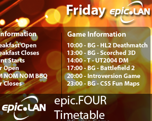 epic4 Timetable