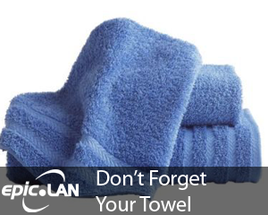 Don't forget your towel